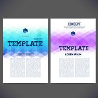 Abstract vectormalplaatjeontwerp, brochure, Web-sites