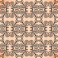 Vector floral lijn stijl achtergrond, naadloze monogram ontwerp patroon.