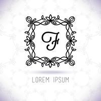 Vector lijn frame ontwerpelementen voor logo's, ornament en decoratie
