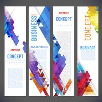Abstract ontwerp banners vector sjabloonontwerp, brochure, element