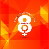 Moderne Vrouwendag achtergrond vector