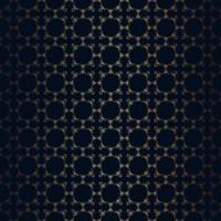 De vector bloemen zwarte achtergrond van de lijnstijl, het naadloze patroon van het monogramontwerp.