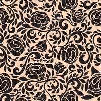 Abstract naadloos kantpatroon met bloemenroos. vector
