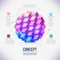 Abstract concept van geometrische compositie, verzameld uit de driehoekige vormen.