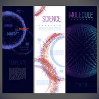 Abstracte wetenschap sjabloonontwerp vector