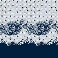 Vector Abstract naadloos patroon met kantbladeren en bloemenpatroon