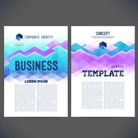 Abstract vectormalplaatjeontwerp, brochure