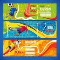 Concept voetballer met gekleurde geometrische vormen