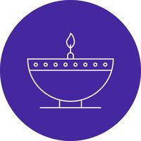 vector diwali lamp pictogram