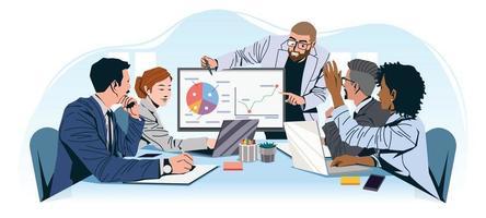 samenwerking van professioneel teamwerk in het vergaderconcept vector