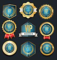 VIP-labelverzameling vector