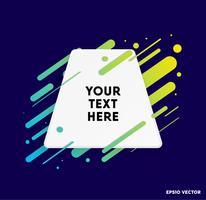 Vectorachtergrond met document kaart en abstracte kleurrijke vormen