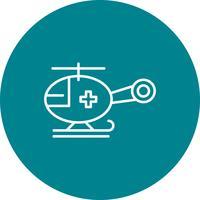 Vector helikopter pictogram