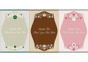 Vintage floral label vector pack