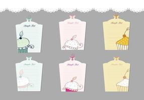 Cupcake label vector pakket