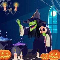 halloween enge heks vector