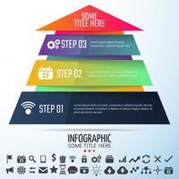 Geometrische Infographics ontwerpsjabloon vector
