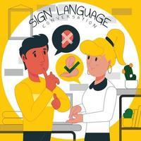 gebarentaal gesprek concept vector