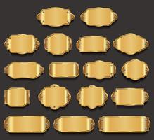 Metalen platen premium gouden kwaliteit collectie