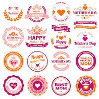 Mother Day Vector label voor banner