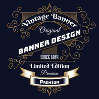 Vintage achtergrond etiket stijl ontwerpsjabloon