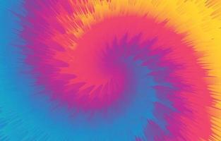 kleurrijke spiraal tye dye achtergrond vector
