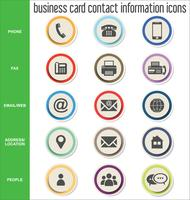Adreskaartje contact informatie pictogrammen collectie