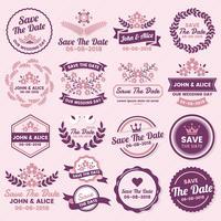 Bruiloft Retro Vintage Vector Label