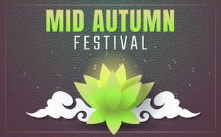 Medio herfst festival vector achtergrond