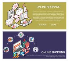 illustratie van info grafische online winkelen instellen concept