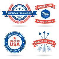 Amerika Vector label voor banner