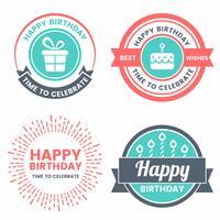 Gelukkige verjaardag Vector Logo voor banner