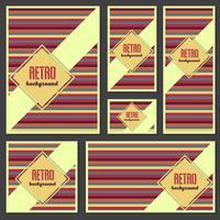 Oude retro vintage stijl achtergrond ontwerpsjabloon vector