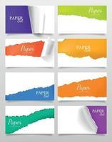 realistische banners van gescheurd papier vector