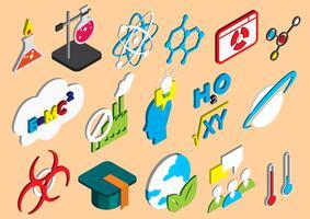 illustratie van info grafische wetenschap pictogrammen instellen concept vector