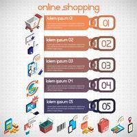 illustratie van info grafische bedrijfs vastgesteld concept vector