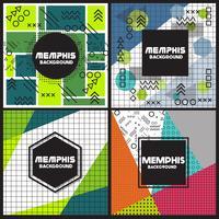 Memphis achtergrond stijl ontwerpsjabloon