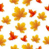 Naadloze bladeren patroon Vector achtergrond