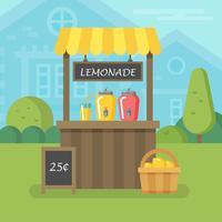 Limonade stand vlakke afbeelding vector