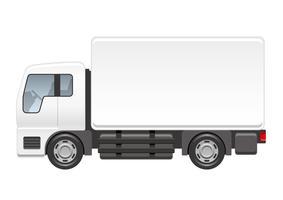 Vrachtwagenillustratie op een witte achtergrond wordt geïsoleerd die. vector
