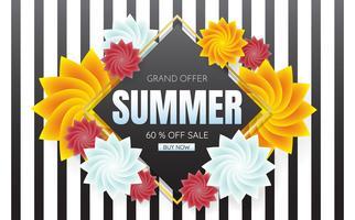 zomer verkoop sjabloon banner Vector achtergrond