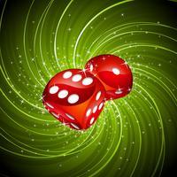 Illustratie met rode dobbelstenen gokken