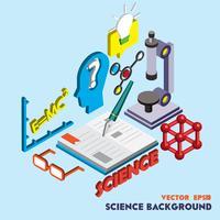 illustratie van info grafische wetenschap vastgesteld concept