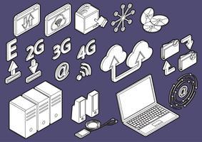 illustratie van info grafische computer pictogrammen instellen concept