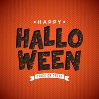 Happy Halloween vectorillustratie