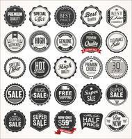 Retro vintage badges en etiketten vector