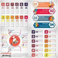 illustratie van info grafische bedrijfs vastgesteld concept