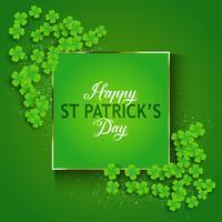 St Patrick's Day achtergrond met klaver