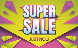 grote verkoop sjabloon banner Vector achtergrond
