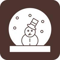 vector sneeuw man pictogram
